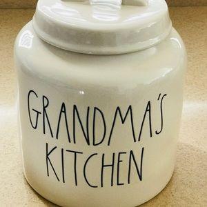Rae Dunn GRANDMA'S KITCHEN canister